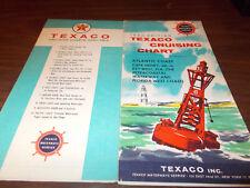 1960 Texaco Cruising Chart Atlantic Coast Cape Henry, VA to Key West, FL