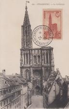 Carte  maximum      FRANCE   Cathédrale  de   STRASBOURG   1939