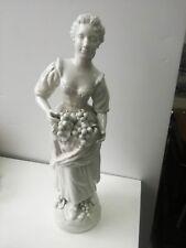 Figura femminile donna ceramica statua 50x13 cm V. Bassano scultura