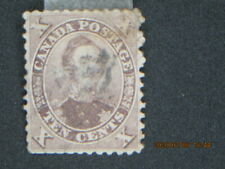 (3-scan)....1859 Canada Stamp # 17 Used, Prince Albert ,CV = >$80  (TYstamps)