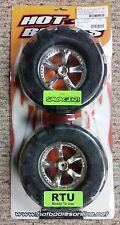 Hot Bodies HB 61179 Dagger Wheel w/ Padlock Tire 1 Pr HPI Savage T-MAXX RC Part
