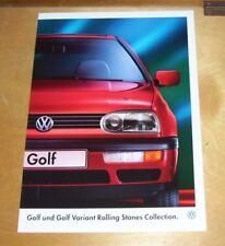 VOLKSWAGEN GOLF und Variant Rolling Stones Collection sales brochure JAN 1996