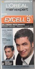 6 pezzi L'OREAL GEL CREMA CAPELLI MEN EXPERT EXCELL 5 n.2 Bruno Profondo Nat.