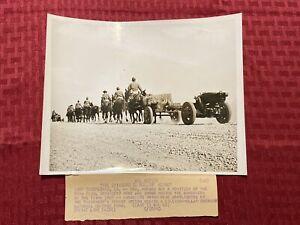 """1940 Original ACME News Photo """"The Caissons Go Rollin' Along"""" 5/18/40"""