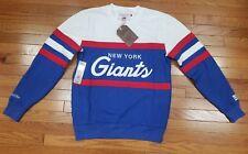 New York Giants Mitchell & Ness NFL Men's Head Coach Crew Sweatshirt Blue / Red