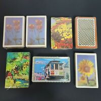 Vintage Playing Cards Lot 7 Full Decks Brand New Sealed Plastic Coated
