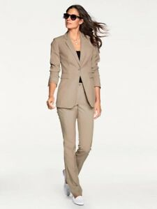 Ashley Brooke Smart Taupe Trouser Suit ~ Size 14 ~ BNWT (21)