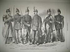 ECOLE SAINT-CYR CARROUSSEL UNIFORMES GARDE NATIONALE JUIFS TETOUAN GRAVURES 1868
