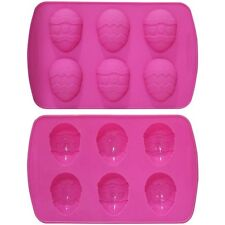 6 Small 6.5cm Chocolate Eggs Silicone Bakeware Mould