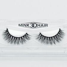 100 Real Mink Natural Thick False Eye Lashes Makeup Extension Fake Eyelashes A15