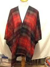 Old Navy Womens Wrap Cover Cardigan Over Sized Blanket Red Plaid Medium Large