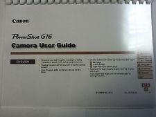 Canon PowerShot a · G16 stampato Manuale di Istruzioni Guida Utente 212 Pagine A5