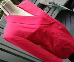 kasper a.s.l. petite 6p pink blazer jacket padded shoulders women
