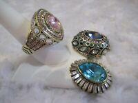 """HEIDI DAUS """"Enchante"""" (Pink) Magnetic Pendant (Size 9) Ring Set (HSN-$159.95)"""