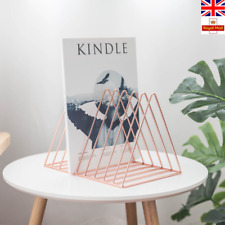 Simple Style Rose Gold Triangle Iron Wire Magazine Rack Black White Bookshelf