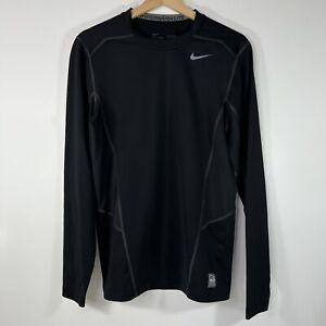 Nike Pro Combat Dri Fit HyperWarm Lite Fitted Crew T-Shirt Men's Medium M