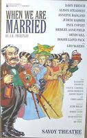 When We Are Married, Savoy Theatre, 1996, 12.5 x 20 Inch Original Poster