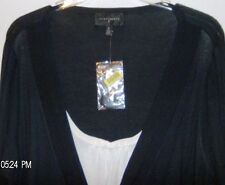 Investments II Black  with White  Faux Twin Set Size  3X  Washable New with Tags