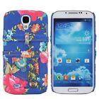 Für Samsung Galaxy S4 Sac Étui Housse Étui De Protection Bumper Jeans Fleurs