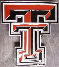 NCAA Pewter Belt Buckle Texas Tech University Red Raiders NEW