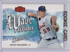 Justin Verlander BASEBALL ROOKIE CARD 2006 Flair Wave of the Future TIGERS RC