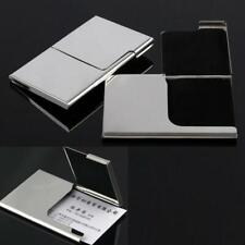 Stainless Steel Business ID Credit Card Holder Wallet Pocket Case H9T0 Box T2R3