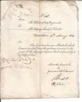 1858 Collector 24Prgs send Dustack to Deputy Sheriff to present to Supreme Court