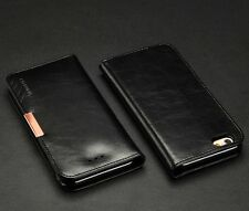 "UK KLD Royale II Genuine Calf Leather Wallet Case Cover Stand for Various PHONES for iPhone 6 6s 4.7"" Apple Black"