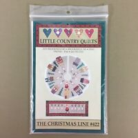 Christmas Line reindeer & Santa tree skirt & quilt pattern Little Country Quilts