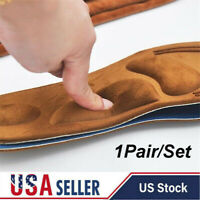 Leather Flat Arch Foot Support Orthotic Insoles Pain Relief High Heel Shoe Pads