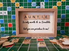 Auntie Gift, Aunty Gift, Aunt, Scrabble tile gift, Birthday Gift, Free P&P