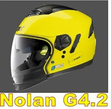 "CASCO NOLAN GREX G4.2 N-COM  EX N43E AIR GIALLO COL.6 Tg. "" L "" LED YELLOW"