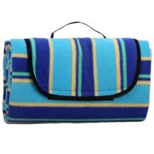 Flamefield Camping Garden Outdoor Summer Coloured Striped Picnic Rug