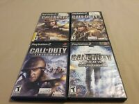 Lot of 4 PS2 Playstation 2 Call of Duty Games 2, 3, Finest Hour, World at War