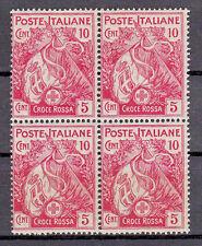REGNO - 1915 - Quartina 10+5 cent Croce Rossa (102) - MHN