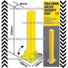 Maypole MP9737 Fold Down Security Post Fixed with Bolts - Yellow