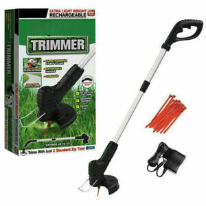 Electric Cordless Garden Grass Trimmer Weed Strimmer Cutter Tool Rechargeable UK