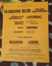 Reading Leeds Festival Blur Reef 1999 press advert Full page 29 x 37 cm poster