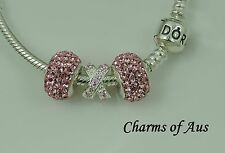 GENUINE Pandora bracelet all sizes + 3 stunning charms. Mothers Day gift.