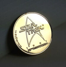 Star Trek 25th Anniv Gold Coin Medallion- QVC Exclusive -FREE S&H (STJW-64-C)