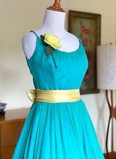 50s Dress Silk Chiffon Jonny Herbert Vintage Cocktail Full Skirt Gown 1950s