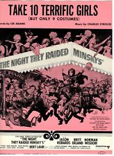 """NORMAN LEAR """"TAKE 10 TERRIFIC GIRLS"""" SHEET MUSIC-THE NIGHT THEY RAIDED MIMSKY'S"""