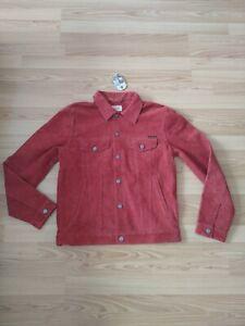 NEU Nudie Jeans, Jacke Leder Leather Robby Suede Jacket Poppy red M