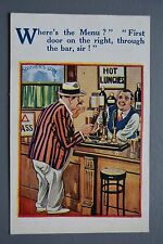R&L Postcard: Comic HB 4644, Bartender Pub Inn Bar Beer
