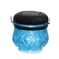 TrendLine LED Solarleuchte Gartenlampe Dekoleuchte Glas blau IP 44
