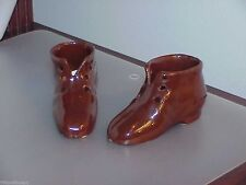 ANTIQUE GERMANY GERMAN  BOOT SHOE BROWN VICTORIAN SHOES