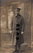 WW1 soldier Pte Devons Devonshire Regiment Greatcoat & Swagger Stick