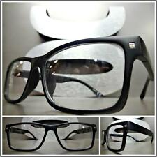 Men CLASSIC VINTAGE RETRO Style Clear Lens EYE GLASSES Matte Black Fashion Frame