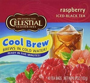 Celestial Seasonings Raspberry Cool Brew Iced Black Tea