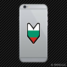 Bulgarian Driver Badge Cell Phone Sticker Mobile Bulgaria BGR BG